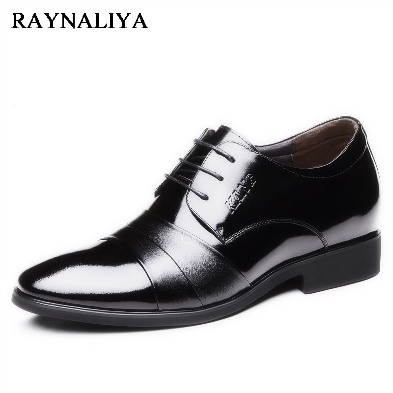 2018 New High Quality Genuine Leather Flats Men Lace-Up Black Business Dress Men Oxfords Shoes Male Formal Shoes BH-A0004