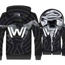New Arrival Westworld Warm Sweatshirts 2019 Winter Mens Hoodie 3D Print Thick Clothes Hip Hop Unisex Jacket
