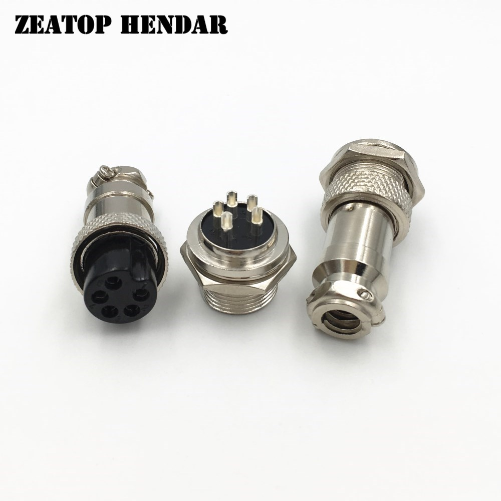10pcs XLR 4 Pins 12mm Audio Cable Connector Chassis Mount 4 Pin Plug Adapter