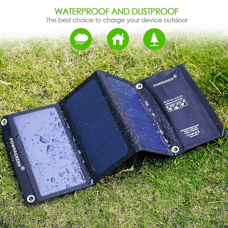 PowerGreen 21 vatios plegable panel solar celular 5V 2A cargador - Accesorios y repuestos para celulares