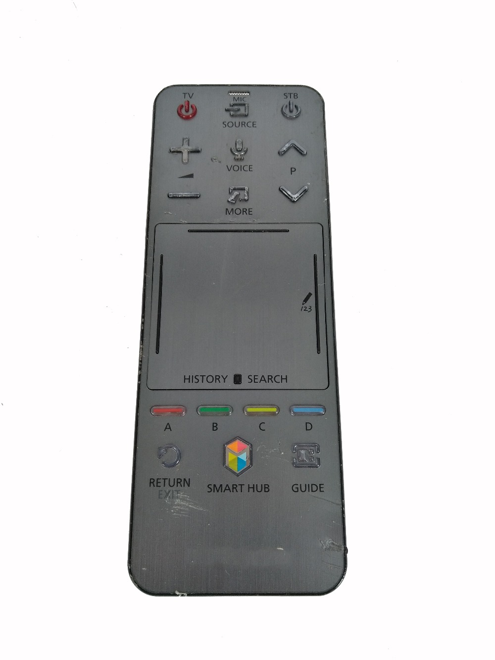 Used Original Remote control FOR SUMSUNG AA59-00761A RMCTPF1AP1 Smart 3D LED LCD TV HUB Touch Voice Controller With Scratches used original bn59 01242a smart voice remote control with scratches suit for samsung 4k uhd tv mu7009 mu8009 ks9090 ks9590ku6679