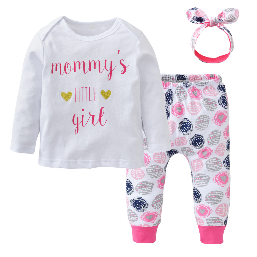 Newborn baby girl clothes cotton long sleeved letters t for Newborn girl t shirts