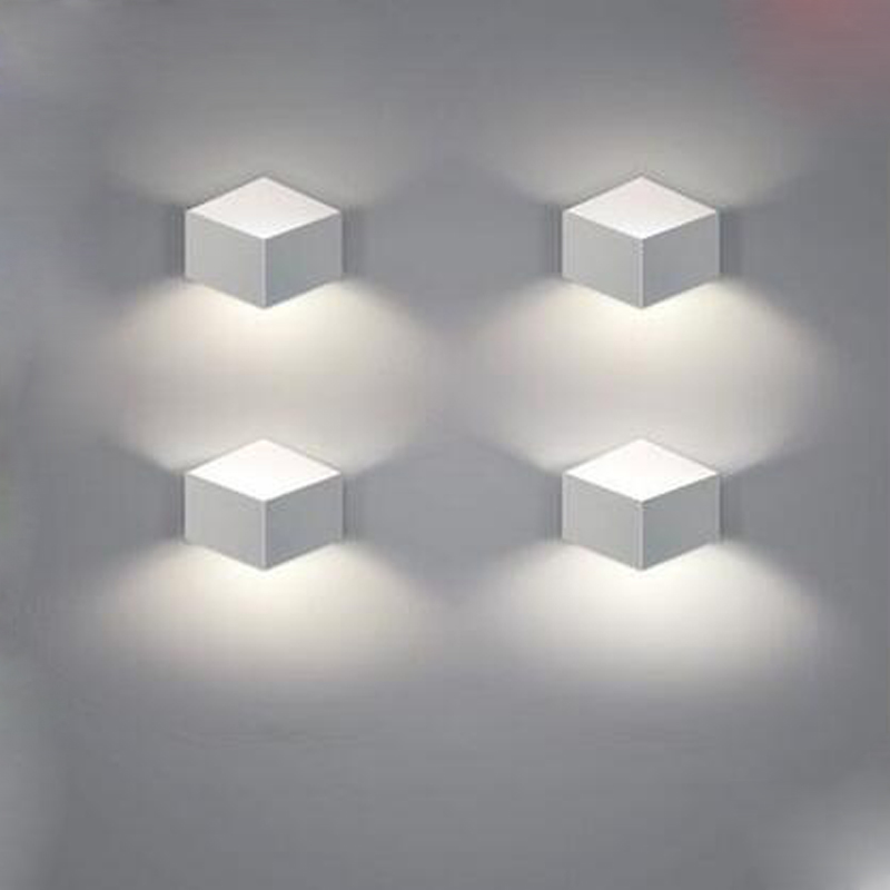The art of creative personality of modern minimalist living room bedroom aisle LED bedside lamps wall lamp porch wall lighting modern minimalist 9w led acrylic circular wall lights white living room bedroom bedside aisle creative ceiling lamp