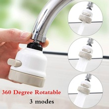 New 360 Degree Rotatable Bathroom Kitchen Accessories Water Saver 3 Modes Tap Filter Faucet Extender Extenders Booster
