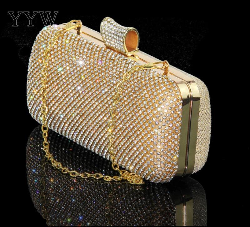 Rhinestone Silver Clutch Purse Women Luxury Clutch Bag Finger Mini Bolsa Feminina Elegant Designer Evening Party Bags Clutches