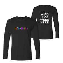 Travis Scotts ASTROWORLD print Hip hop funny t shirts with Long Sleeve shirt famous streetwear Cotton fitness Tees