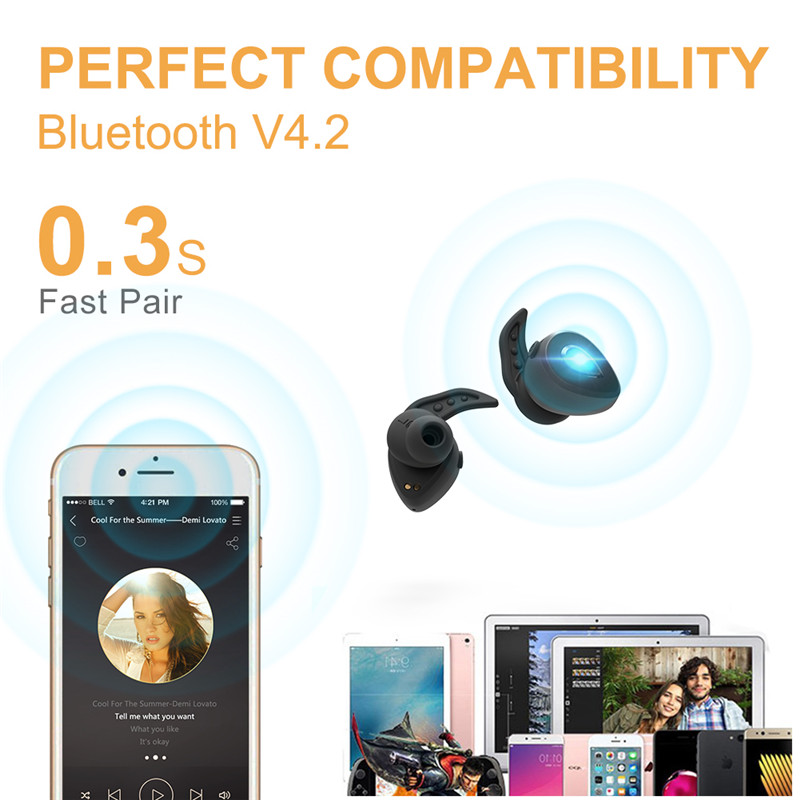 Mini wireless bluetooth earphone bluetooth wireless earphone earbuds for iphone 7 red color phone Wonstart W305