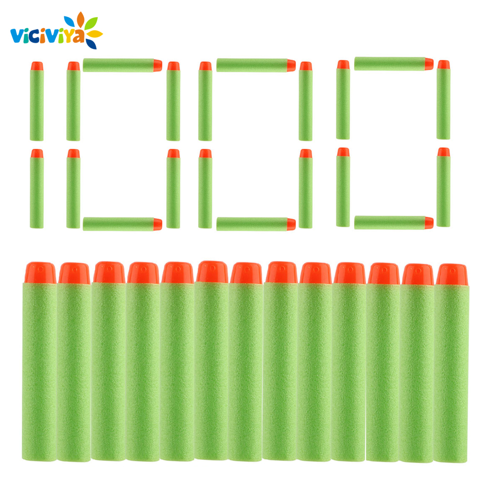 1000PCS For Nerf Bullets Soft Hollow Hole Head 7 2cm Refill Darts Toy Gun Bullet for