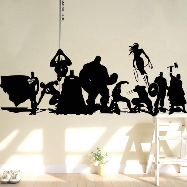 Creative DIY Wall Art Home Decoration Iron Man Avengers 2 Hulk Captain America