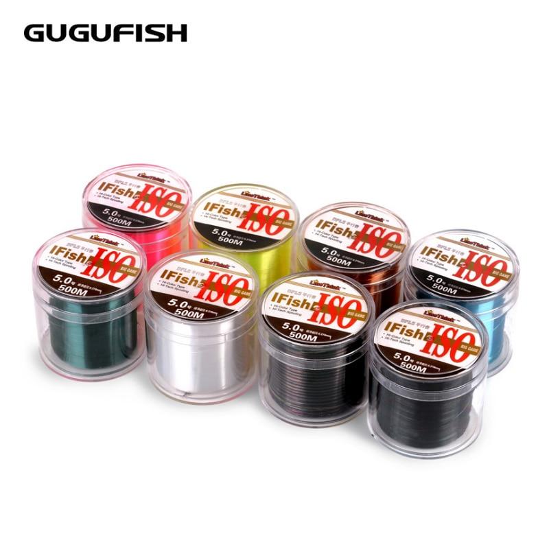 GUGUFISH Línea de pesca importada 500 M Línea principal Material de hilo de nylon Línea de tiro Línea de pesca 1LB-30LB