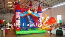 pvc inflatable slide bounce castle inflatable bouncer jumper slide mikey mouse fun zoon