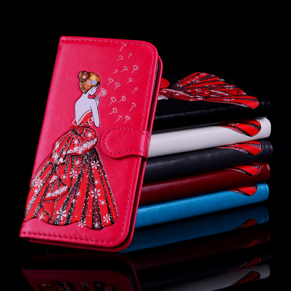 Wedding dress girl For iPhone 7  7Plus 8  8Plus Case High Quality Cartoon Design Magnetic Holster Flip Leather Phone Case