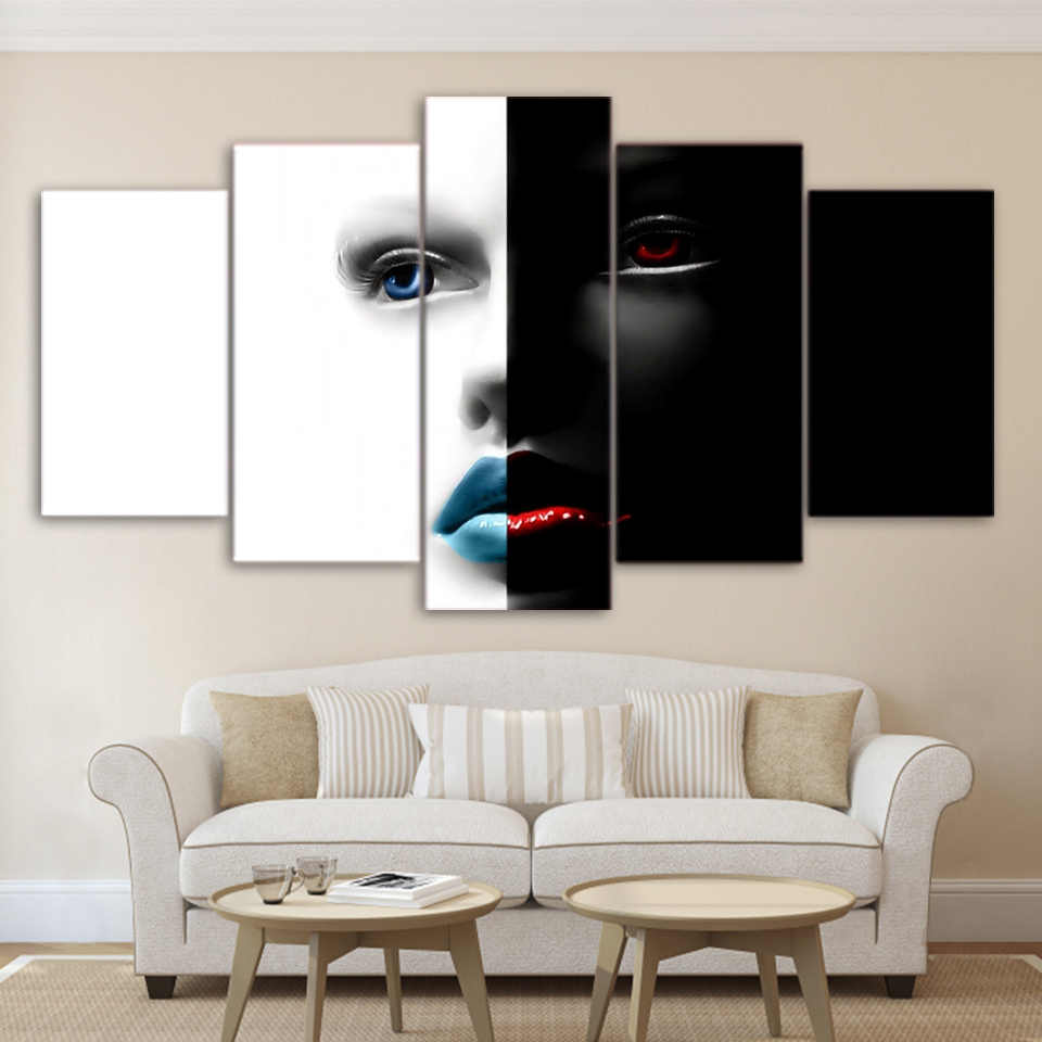 TOP Framed 5 Pieces/set Movie Poster Series Wall Art For Wall Decor Home Decoration Picture Paint on Canvas/FREE ART-Five-6