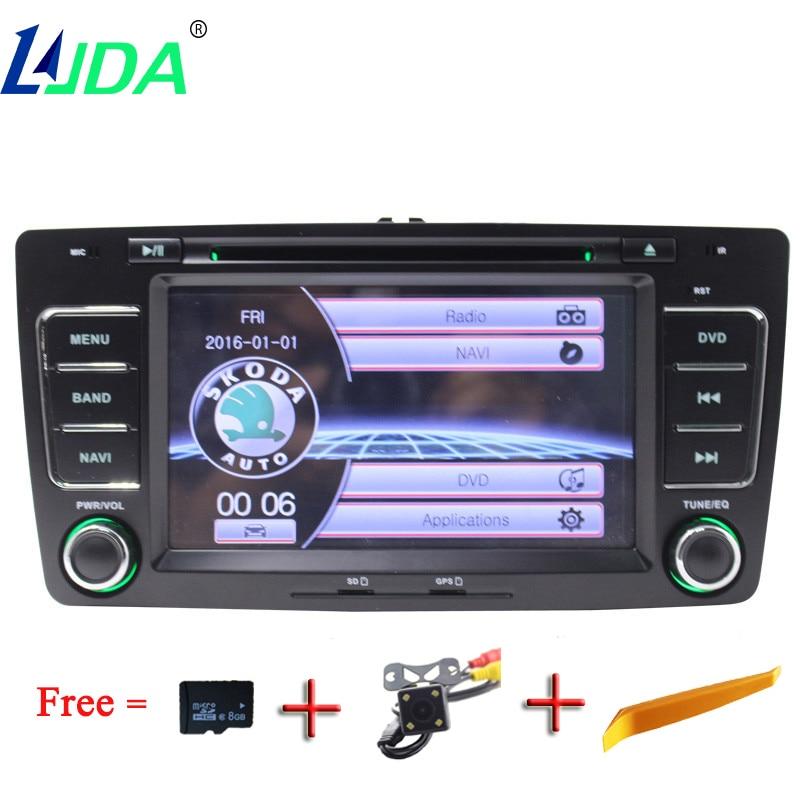LJDA Two Din 7 Inch Car DVD Player For SKODA Octavia 2009 2013 Multimedia Stereo GPS