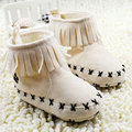 Newborn Baby Girl Boy Kids Prewalker Solid Shoes Infant Toddler Soft Soled Anti-slip Boots Booties 0-18Year