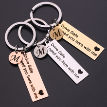 Engrave-Keyring Keychain Letter-Drive Safe Custom Initials For Couples Gift Women