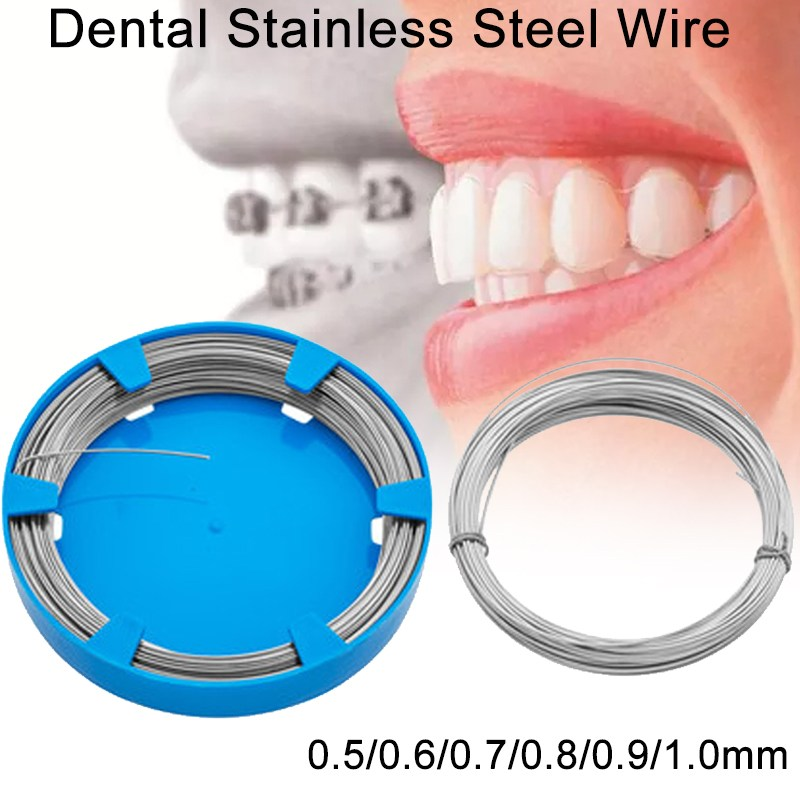 1 Roll Dentist Dental Stainless Steel Wire For Professional Teeth Correction Tooth Orthodontic Surgical Instruments 0.5-1.0mm