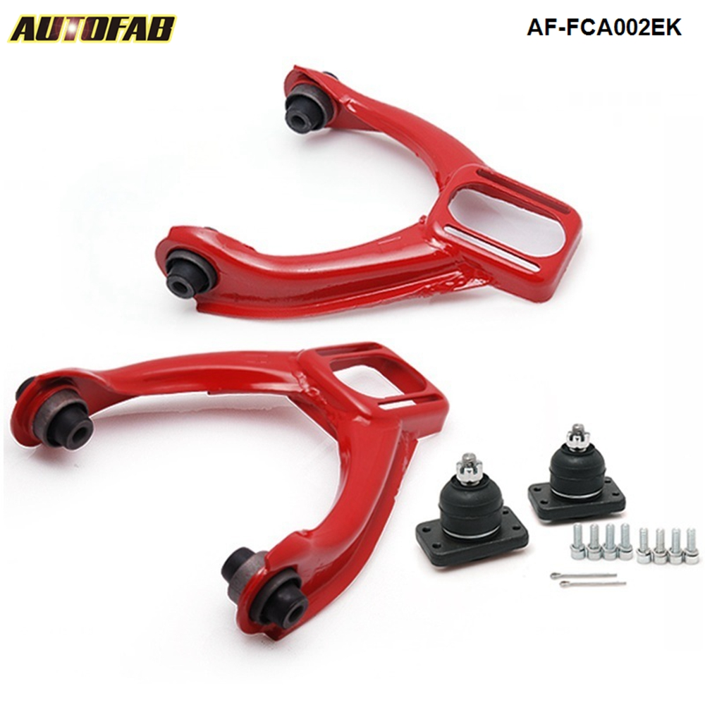 REAR CAMBER TOE KIT For 88-91 CIVIC CRX 90-93 INTEGRA RED FRONT UPPER ARM