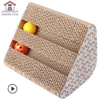 Pet Cats Scratcher Sisal With Bells Cat Corrugated Claw Grinding Durable Cardboard Scratching Post Animals Cat Scratcher LY0009