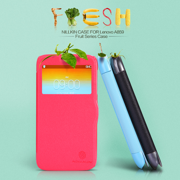 Flip Leather Case Cover Lenovo A859 NILLKIN Fresh Series Screen Protector - 2016 Super Seller store