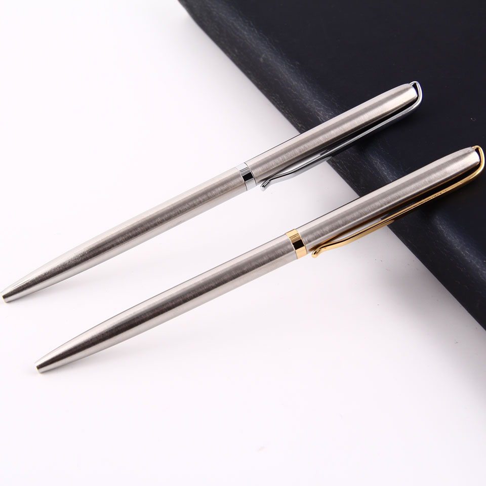 Metal Ballpoint Pen 0.7mm Blue Black Luxury Custom Advertising Ball Pen for School Gift Set Student Stationery Office Supplies