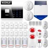 KERUI 8218G Home Alarm System Security GSM PSTN Dual DIY Kit With Motion Detectors Smoke Alarm