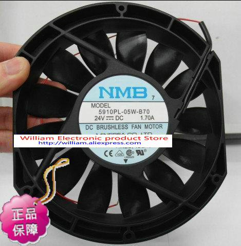 New Original NMB 5910PL-05W-B70 DC24V 1.70A 172 * 150 * 25MM axial cooling fan nmb new and original fba09a12m 9025 9cm 12v 0 2a chassis silent cooling fan 90 90 25mm