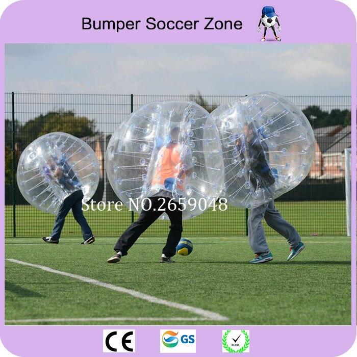 Livraison gratuite 1.5 m ballon de Football gonflable ballon pare-chocs corps Zorbing bulle ballon de Football jeux de plein air pour adultes