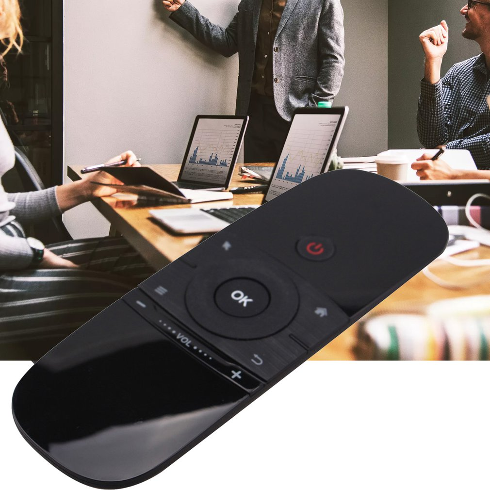 W1 2.4G Wireless Somatosensory Flying Mouse Double-Sided Aerial Mini Keyboard Mouse Wireless Remote Control
