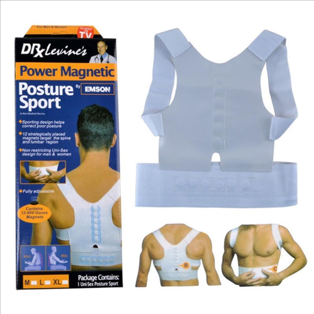 Support-Corrector Posture Power Magnetic Adjustable Back-Brace-Belt Magic-Strap Humpback