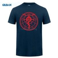 GILDAN t shirt design patternAnime Fullmetal Alchemist Edward Alphonse Elric Transmutation T Shirt Tee Short Sleeve t-shirt