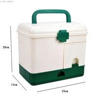 Wielofunkcyjny 23.5X17X20.3 cm Bardzo Duże Gospodarstwa Domowego wielowarstwowa Handy Główna Apteczka Pole Medycyny Storage Case BEZPŁATNE POST