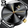 BINGER Herren Uhren Top marke Luxus Automatische Mechanische Uhr Military Business Einfache Männliche Armbanduhr Wasserdicht 50 mt Uhr-in Mechanische Uhren aus Uhren bei