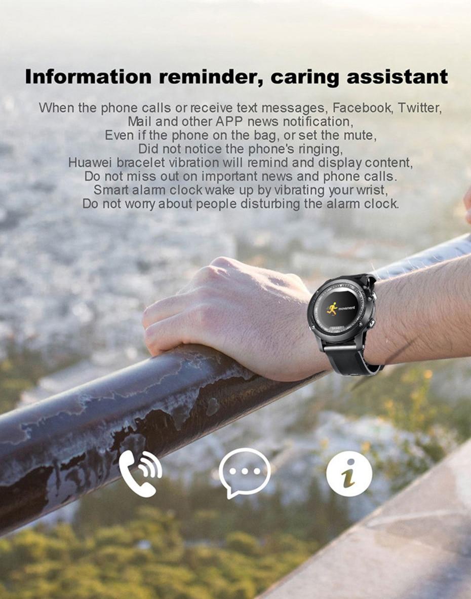 COLMI T2 IP68 Waterproof Heart Rate Monitor Push Message Call Reminder Clock Bluetooth 4.0 Brim Men Sport Smart Watch 10