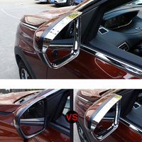 2pcs ABS Electroplating Rearview Mirror Rain Shield Cover Trim For Peugeot 5008 2017 2018