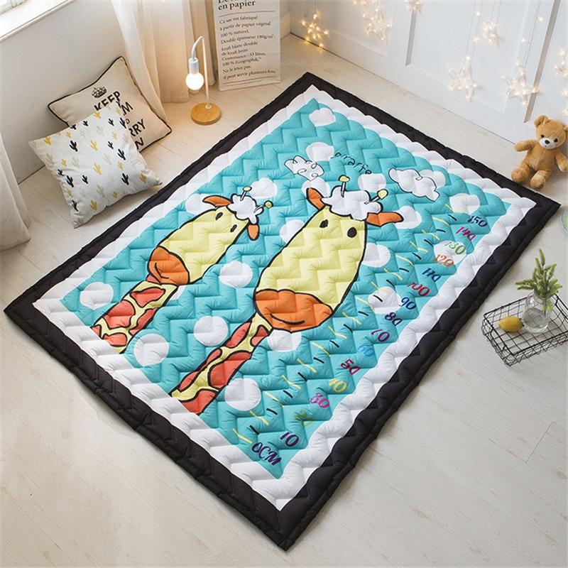 1.5cm 2.5cm boys girls game carpet cartoon house floormat rug skidproof baby child playmat blanket 145*195cm elephant цена 2017
