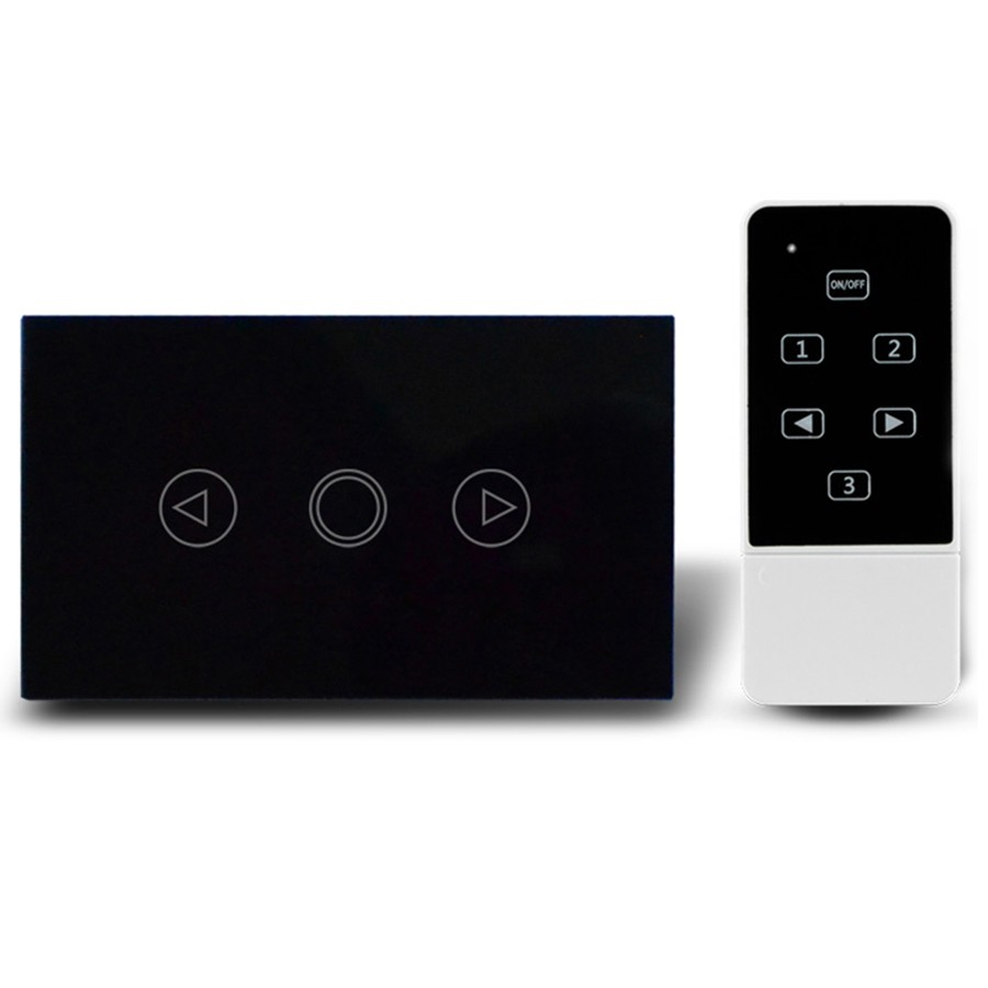 1 High Quality US AU Standard Dimmer Touch Switch, smart home LED Lights Wall Switch,RF433 Remote Control Switch LED indicator
