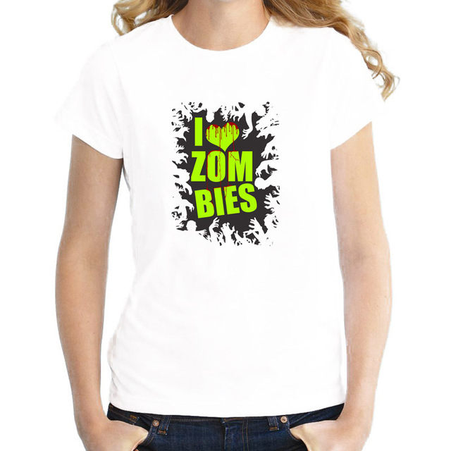 Us 7 53 29 Off Zombie 2017 Summer Novelty T Shirt Female Girl Tshirts Brand New Kawaii T Shirt Top Graphic Tees Harajuku Wtw405 In T Shirts From