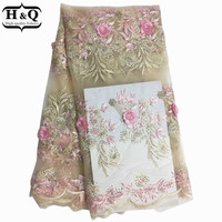 Hot African Tulle Lace With Stone Embroidered Net Tulle Lace Fabric Nigerian Design With High Quality