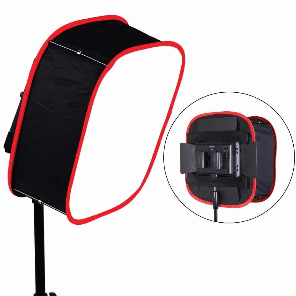 Meking Dilipat Kotak Lunak 40*40 Cm untuk Yongnuo YN600 YN900 Lampu LED Panel Pencahayaan Portabel Pengubah untuk Studio