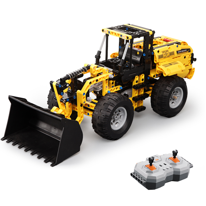491pcs RC L350F Wheel Loader Compatible Technic With Electricity Building Blocks Engineering Bricks Toys Gift Children