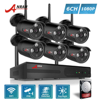 ANRAN P2P WIFI 8CH NVR Security System 6PCS Outdoor Array IR 1080P Network IP Wireless Cameras