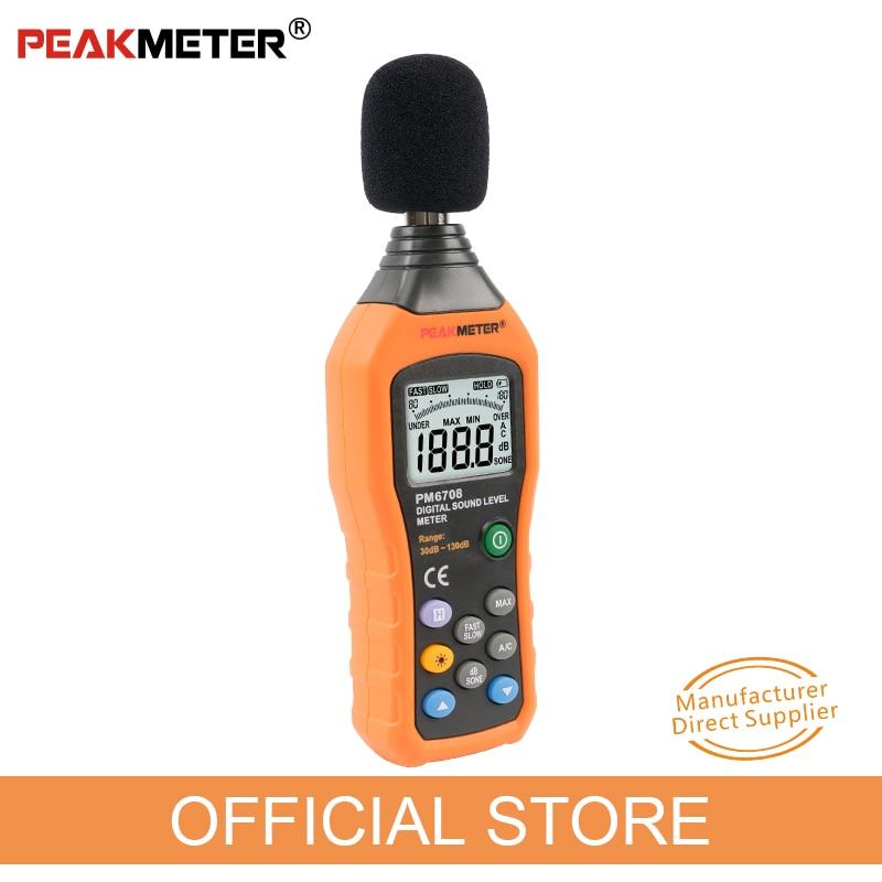 """Oficialus """"PEAKMETER PM6708 LCD"""" skaitmeninio garso decibelų - Matavimo prietaisai - Nuotrauka 2"""