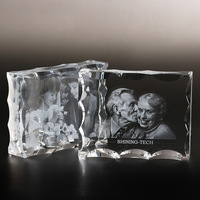 Crystal Photo Frame Customized Glass 3D Laser Engraved Picture Frames DIY Wedding Family Photo Album For Gifts