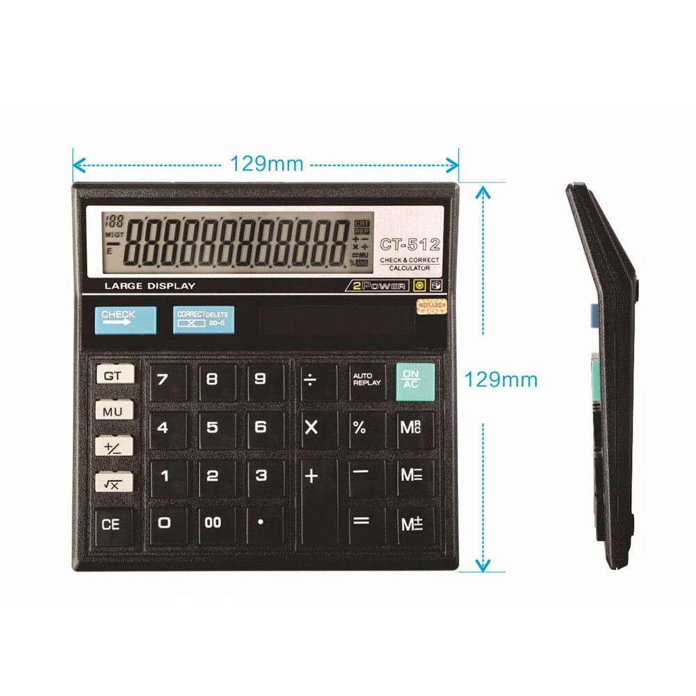 1pc portable solar card calculator mini transparent powered 8.