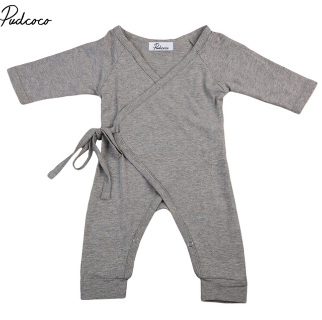 6155f582a toddler Newborn Baby Boy Girls solid color Bodysuits with wings ...