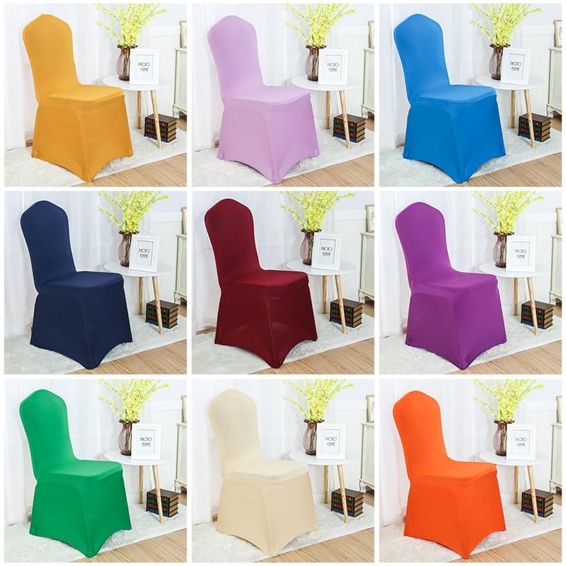 30 szín Spandex székfedő lycra borító szék étkező szék burkolat esküvői bankett fél dekoráció nyújtó fedél