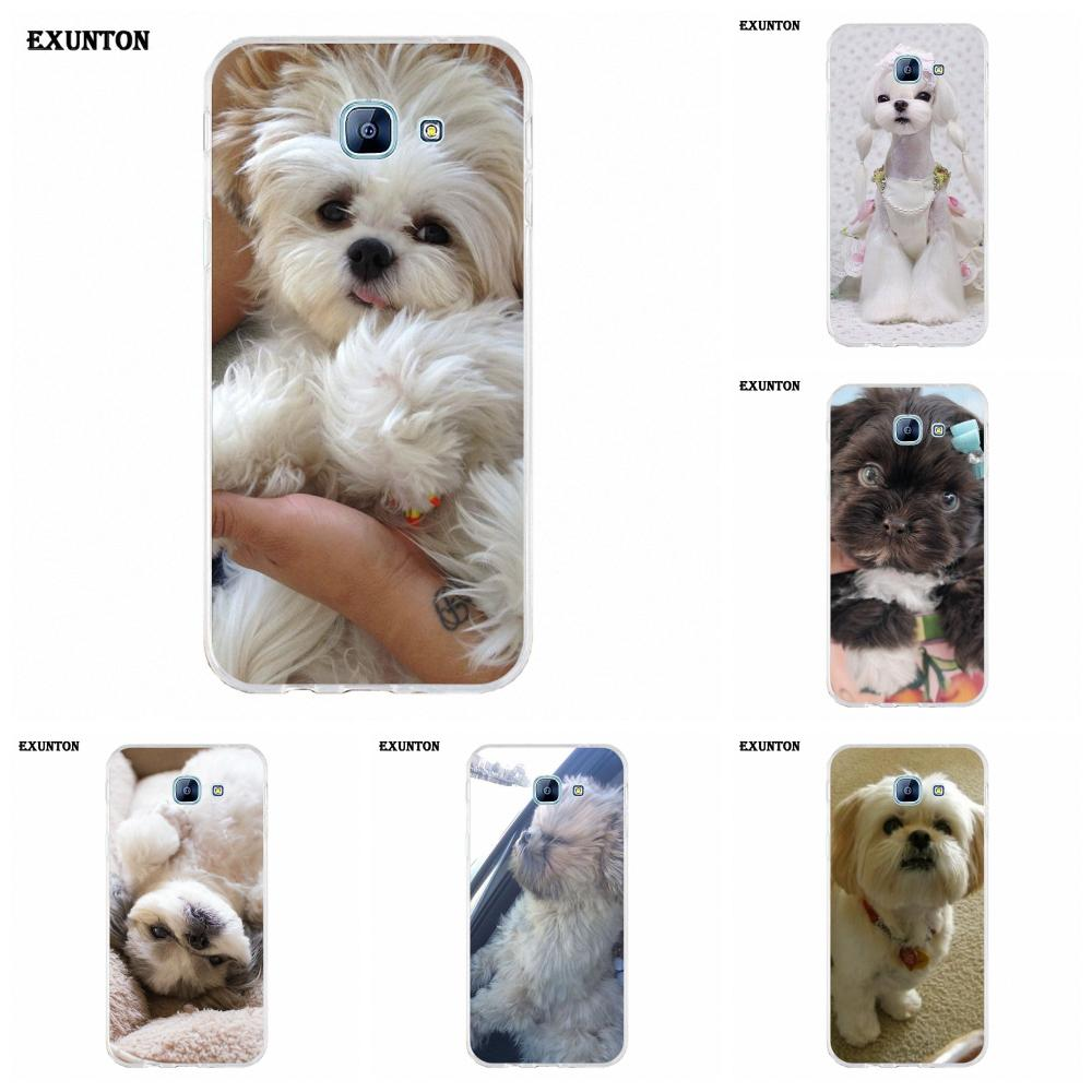 Love Pretty Shih Tzu Puppy <font><b>Dogs</b></font> Soft Mobile For <font><b>Galaxy</b></font> <font><b>A3</b></font> A5 A7 A8 A9 A9S On5 On7 Plus Pro Star 2015 2016 <font><b>2017</b></font> 2018 image
