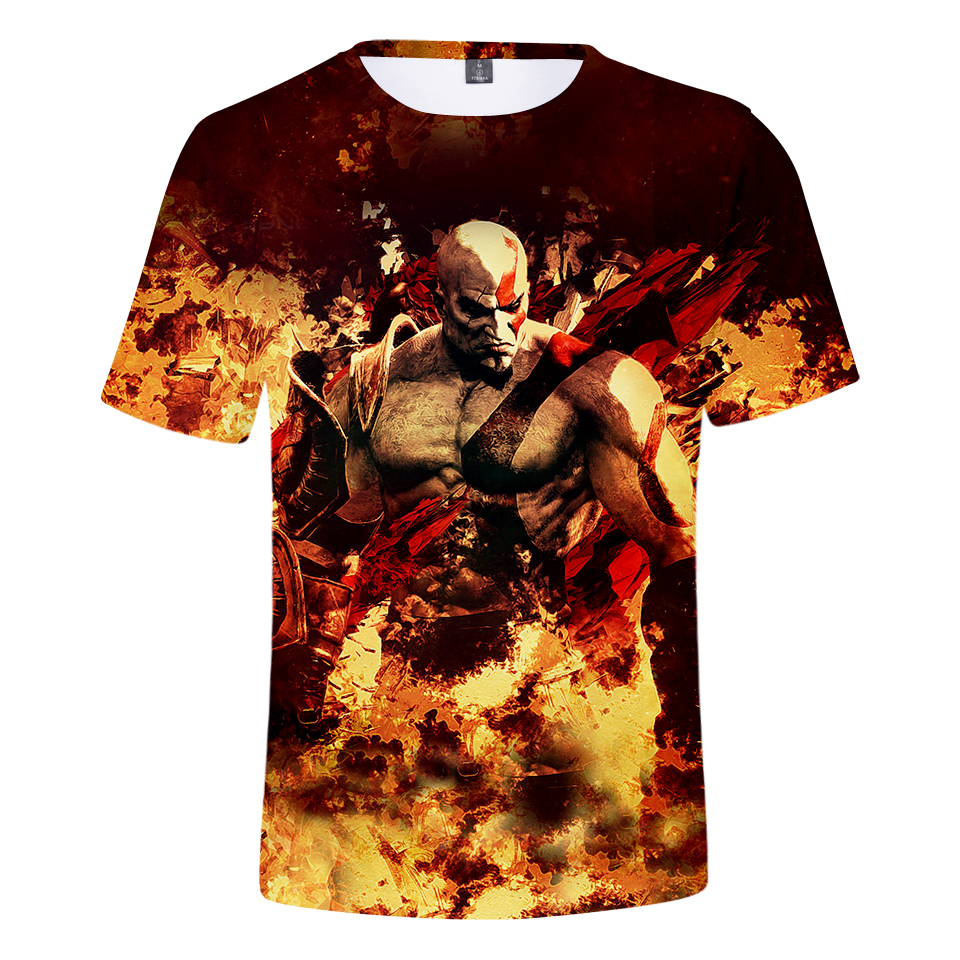 God Of War 3D Design T-Shirt Men Women O-Neck Summer Tshirt Hot Game T Shirts Tops Camisetas Clothing