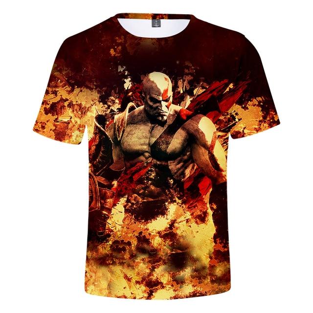 God Of War 3D Design T-Shirt Men Women O-Neck Summer Tshirt Hot Game T Shirts Tops Camisetas Clothing